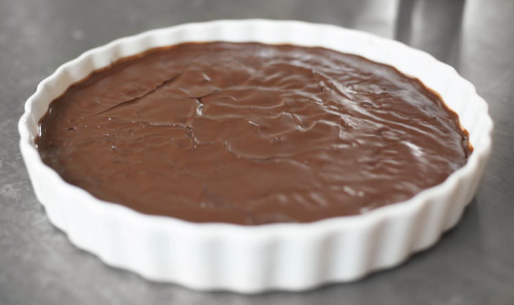 Flourless Chocolate Torte with Chocolate Ganache : Left on ...